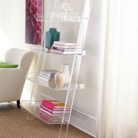 Acrylic_leaning_bookshelf from wisteria