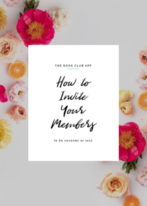How to Invite Your Book Club Members to the Club Page